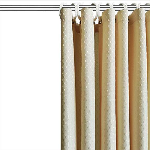 N\A Gardinen, Badezimmerduschvorhänge, Verdickt, Wasserdicht, Schimmelresistent, Schnell Trocknend, Waschbar, Nicht Verblassend (Einschließlich Haken),Hellgelb,150x180cm(WxH