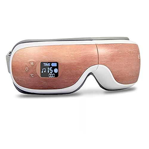 REAK アイウォーマー 目元エステ ホットアイマスク 目元ケア 目元美顔器 通気性 音楽 3D立体 遮光 USB充電 男女兼用 ギフト プレゼント 180度折りたたみ おうち時間 和風 木目調