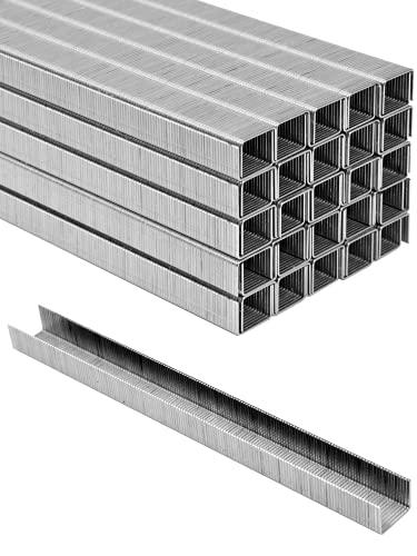 Grapas para grapadora neumática VOREL [7500 piezas] 10x12,7 mm / 0,95 mm - grapas de alambre para madera, acabados, tapicería. Apto para uso profesional y privado.