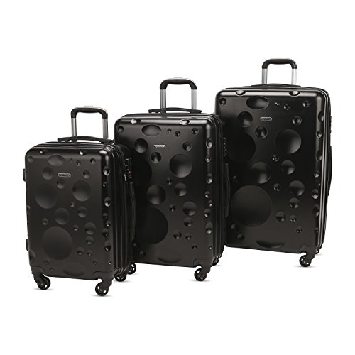 We like this black hard case luggage set because they've got charm about them and they won't break the bank.