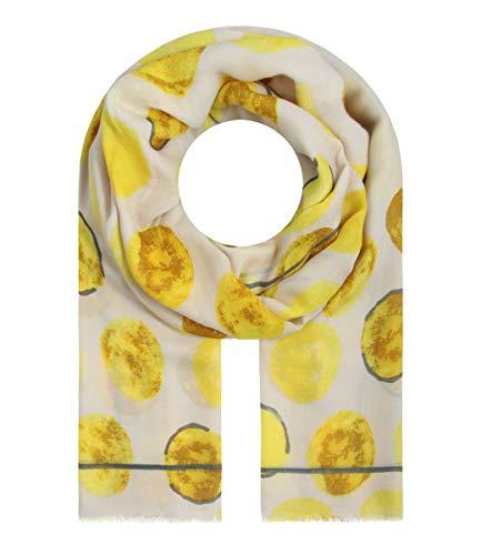 Majea Halstücher Damen Tuch Kopftuch Halstuch Schal Damen-Schal Tücher Damen Stola (gelb)
