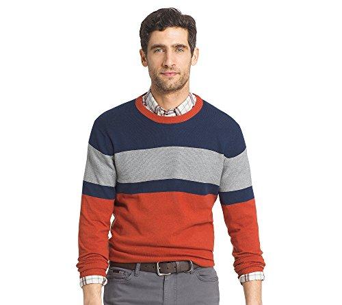 IZOD Men's Fine Gauge Crew Sweater, Rooibos, 2X-Large