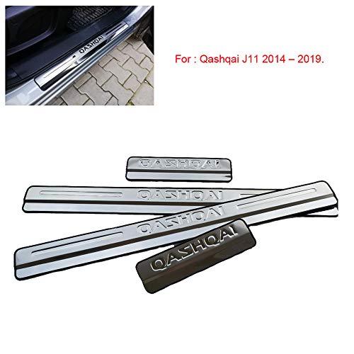 Pedal para puerta de acero inoxidable para Qashqai J11 2014-2019 Door Sill Scuff Plate Door Sill Pedal Car Styling