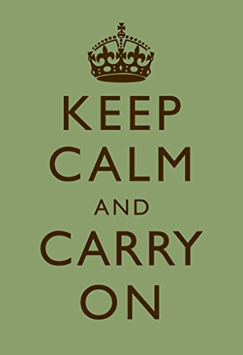 Keep Calm Carry On Motivational Inspirational WWII British Morale Mint Green Brown Cool Huge Large Giant Poster Art 36x54