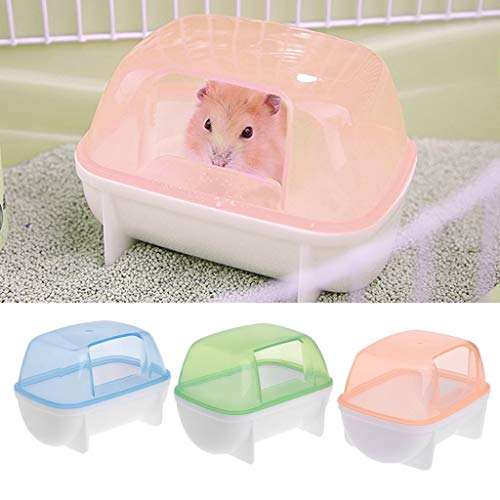 Vektenxi Premium-Qualität Hamster Badezimmer Sauna Haustier Kleintiere Kaninchen Chinchilla Toiletten Reinigung