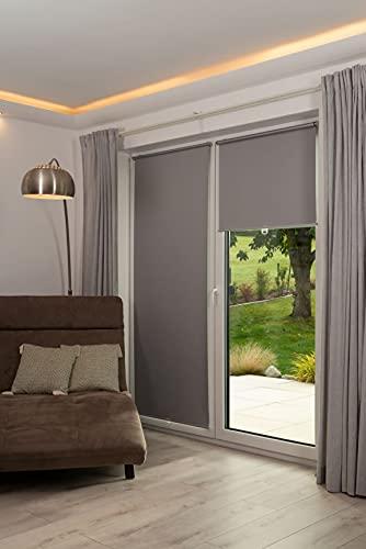 K-home 610325-31 - Tenda a rullo oscurante, 35 x 150 cm, colore: Grigio