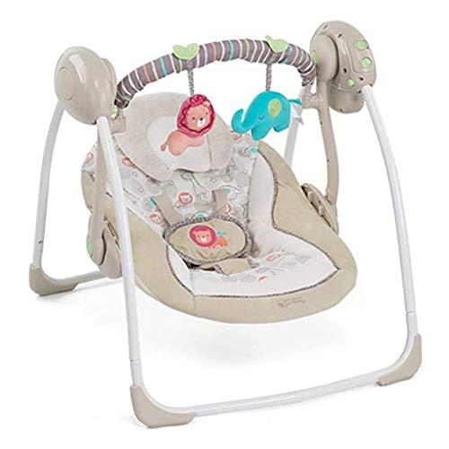 Silla mecedora de bebé eléctrico y mochilero con música plegable inteligente swing asiento de cuna de bebé a niño para recién nacido WTZ012