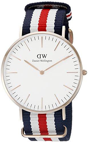Daniel Wellington Herren-Armbanduhr XL Canterbury Analog Quarz Nylon DW00100002