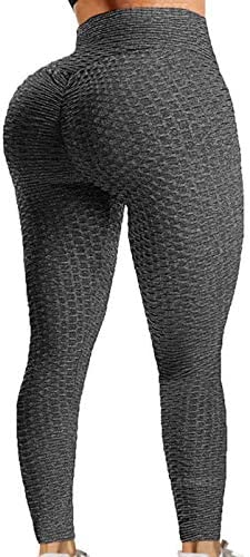 A AGROSTE Womens High Waist Butt Lifting Anti Cellulite Workout Leggings Yoga Pants Tummy Control product image