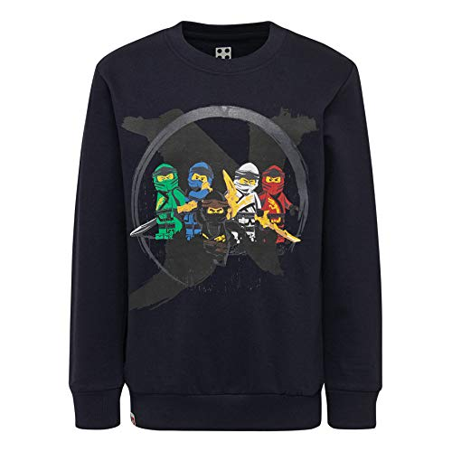 LEGO Jungen CM-50323-SWEATSHIRT Sweatshirt, Blau (Dark Navy 590), (Herstellergröße: 104)