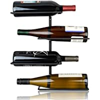True Seating 4-Bottle Wall Mounted Wine Iron Frame Rack