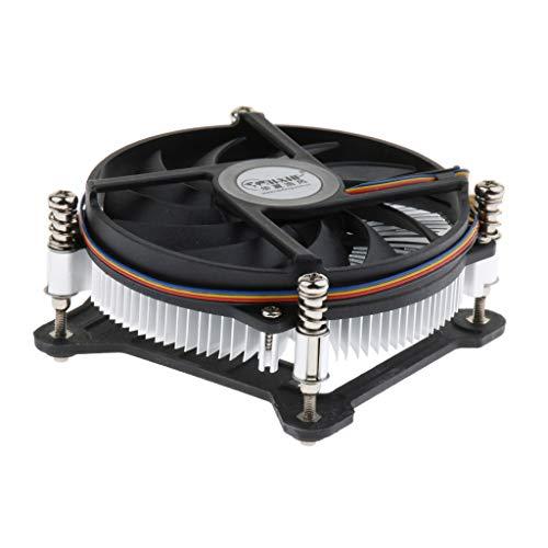 balikha Ventilador de Aluminio de 12 V, 9 Cm, Ventilador de Refrigeración de CPU de Computadora, 2800 RPM para