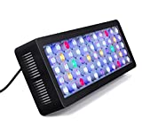 Lightimetunnel WiFi LED Aquarium Light, 165W WiFi Plus Dimmable Full Spectrum Fish Tank Light with Four Channels for Freshwater Saltwater Marine Tanks LPS/SPS