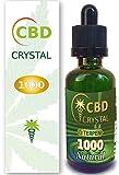 CrystalCBD 1000 Natural 50ml Sabor Neutro - Liquido para Cigarrillo electronico concristales de CBD 1000 MG / 50ml E-Liquid SIN NICOTINA no nicotina no Tabaco