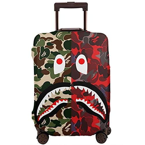 Copertura antipolvere per valigie lavabile, 1 Squalo Bocca Verde Esercito Soono Rosso Verde (Nero) - 55XLXT-377309766