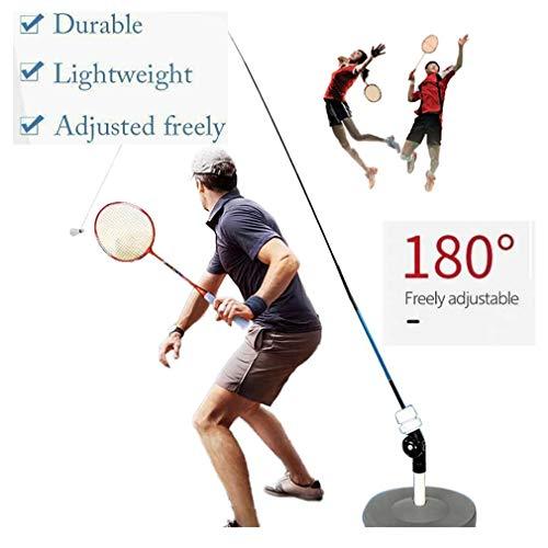 Zooart Badminton Trainer, Solo Equipment Practice Training Aid | Badminton Single Training Device | Tragbares Badminton-Set Freistehend | Rebound Badminton Selbstübung