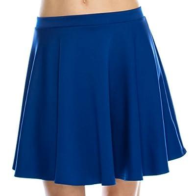 ellahebe Women's Versatile Elastic Waist Flared Skater Skirt (Made in USA)