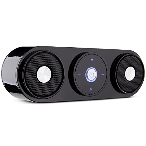 Bluetooth Speakers, ZENBRE Z3 10W Portable Wireless Speakers with 20H Playtime, Computer Speaker with Dual-Driver Enhanced Bass Resonator (Black)