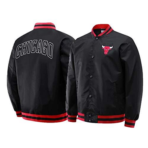 Michael Jordan Jacke, Chicago Bulls 23# Basketball Jersey Langarm Mode Sweatshirt Jacke, Unisex Basketball Training Sport Kleidung (S-2XL) Black-XXL
