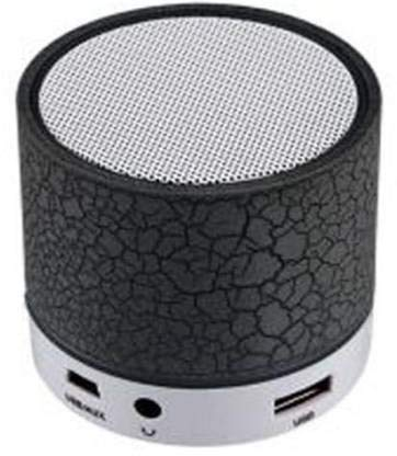 Cool Crack Design Mini Rechargeable Wireless USB Bluetooth Speaker with Mic Support for All Smartphones Black