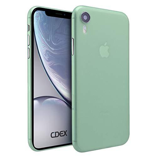 doupi UltraSlim Hülle für iPhone Xr (iPhone 10r) 6,1 Zoll, Ultra Dünn Fein Matt Handyhülle Cover Bumper Schutz Schale Hard Hülle Taschenschutz Design Schutzhülle, grün