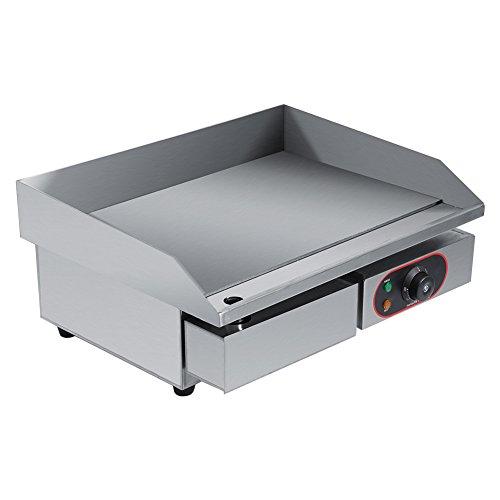 Elektro-Grillplatte BBQ-Grillplatte Elektrischer Grill aus Edelstahl für Restaurant oder Haushalt, 45 x 55 cm