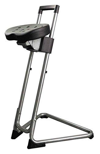 """Lotz Stehhilfe """"Die Standhafte"""" 3600.33 Gestell Edelstahl, ergonomisch geformter Komfortsitz aus pflegeleichtem Integralschaum höhenverstellbar und schwenkbar, belastbar bis ca. 120 kg"""