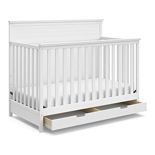 Great Features Of StorkCraft Homestead 4-in-1 Convertible Crib with Drawer - Full-Size Storage Drawe...