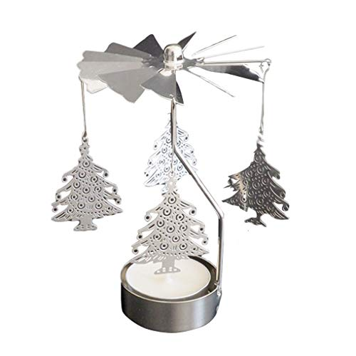 Qimao Rotación de Spinning sostenedor de Vela de la Boda del Partido de Navidad la decoración del hogar del Metal Portacandelitas Candelabro