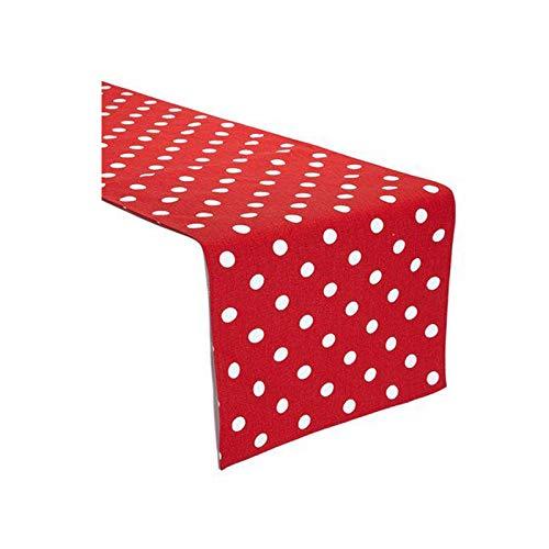 KS LINENS Red and White Polka Dot Table Runner 12
