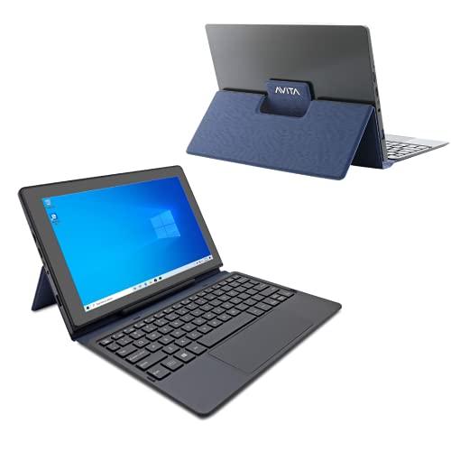 AVITA Magus II 10.1' HD Tablet with Detachable Keyboard, Windows 10, Intel Celeron N4000 Processor, 4GB Ram & 64GB Storage (Blue)