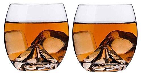 SoGuDio Decantador Gafas de Whisky de Cristal, Tumblers para Beber Bourbon, Cognac, Whisky irlandés, Tazas de cata de Cristal Premium para Hombres y Mujeres, 350 ml Decantador de Whisky
