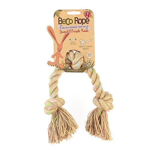 BecoThings Rope Jungle Triple Knot M 30cm Hundespielzeug