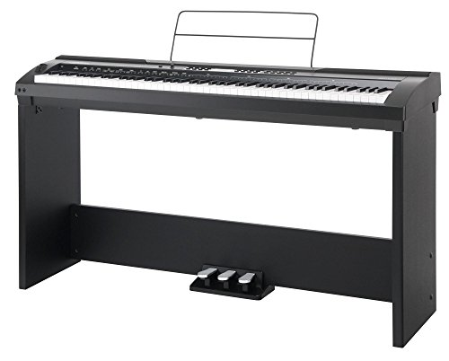 Set completo de stage piano Classic Cantabile SP-150 BK negro (Incl. atril)