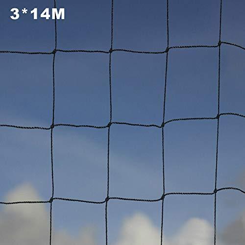 Gartennetz PE Mesh Mehrzweckfarm Starker Pflanzenschutz Hochleistungs-Brieftaube Hühnerpflanzen Klettern Einfach installieren Geflügel Voliere Anti Vogel(3x14m)