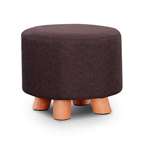 FWZJ Taburete pequeño de Tela, Taburete de sofá de Moda para el hogar, Taburete para Sala de Estar para Adultos pequeños, Taburetes de Madera Taburete pequeño Creativo (Color: H, Tamaño