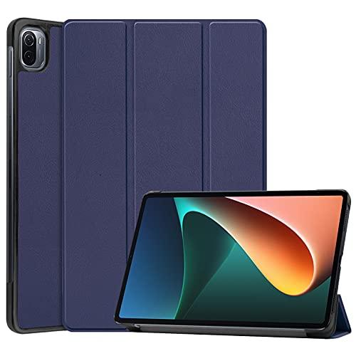 DWaybox Custodia per Xiaomi Pad 5 11,0 pollici, custodia protettiva sottile e rigida a tre ante sottile per Xiaomi Pad 5 Pro 5G 2021 con supporto multi-angolo -Blu scuro