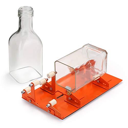 FIXM 0213 - Cortador de botellas para diferentes tamaños y formas, entre otras, redondas, rectangulares u ovaladas, botella y cuello de botella, con soporte extra para manualidades