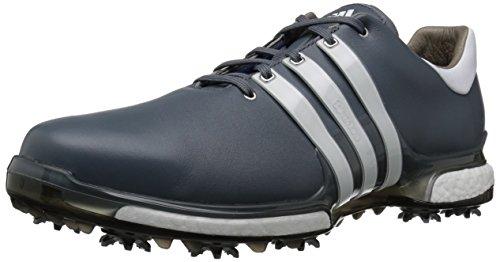 adidas Men's TOUR360 Boost 2.0 Golf Shoe, Onix/White/Black, 8.5 UK