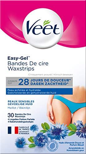 Veet Bandes de Cire Maillot - Peaux Sensibles - 30...