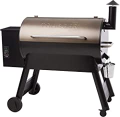 Never use gas or charcoal again: cooking with wood just tastes better. Traeger created the original wood-pellet grill as the ultimate way to achieve wood-fired taste Versatile barbecue cooking: hot and fast, or low and slow, the Traeger Pro Series 34...