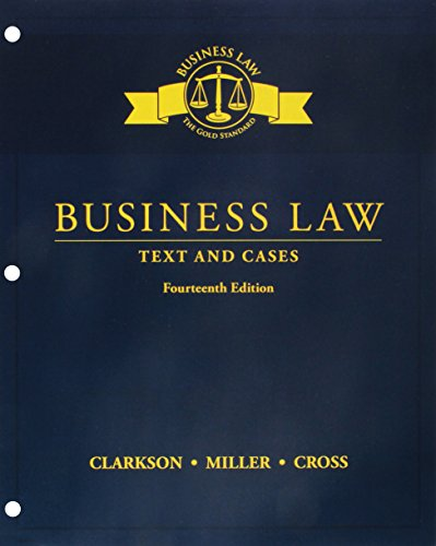 Bundle: Business Law: Text and Cases, Loose-Leaf Version, 14th + MindTap Business Law, 1 term (6 months) Printed Access Card