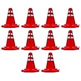 STOBOK 10 Unids Mini Plástico Conos de Carretera Señales de Tráfico Señales de Tráfico Juego de Juguetes Señal de Tráfico Barreras de Tráfico Juguete de Educación Temprana para Niños