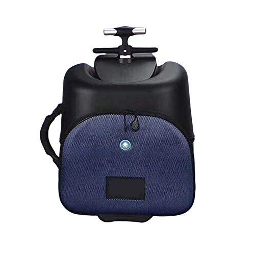 AUNLPB Multifunktionale Kindersitz, Childs Roller Gepäck für Carry On Koffer, 16 '' Kinder-Roller Koffer Ride-on Gepäck Cartoon Kleinkind Stehen Skateboard Koffer,A
