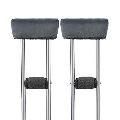 Healifty Crutch Pads and Hand Grip Covers - Crutch Handle Pads Cushions Pillows Accessories - Washable Elastic Soft Memory Foam- for Hand Cane Walking Arm Crutches(1 Pair)