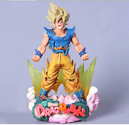 YLSP Exquisite Hand Model Super Saiyan Goku Dragon Ball Puppet Animation Model Sculpture Statue Decorated Boutique 24CM (Color : -, Size : -) image
