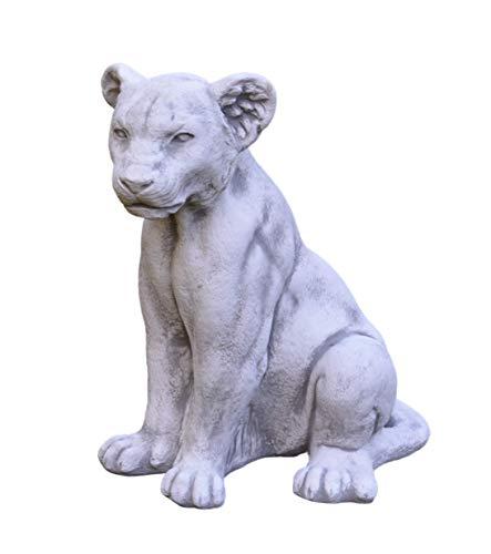 gartendekoparadies.de Herrlicher Stein - Löwin Löwe als Torwächter aus Steinguss, frostfest