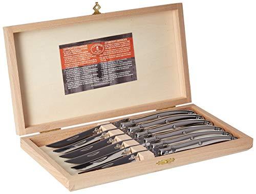 Jean Dubost Laguiole Steak Knives, Stainless Steel- Set of 6