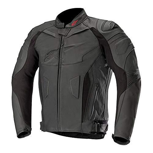 Alpinestars Chaquetas de moto Gp Plus R V2 Chaqueta de cuero negro, negro/negro, 46