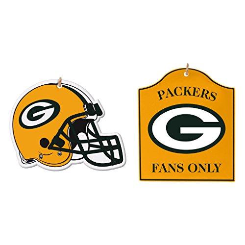 Boelter Brands NCAA Green Bay Packers Holz Ornament, 2-packnfl Holz Ornament, 2Pack, gelb, 8,5